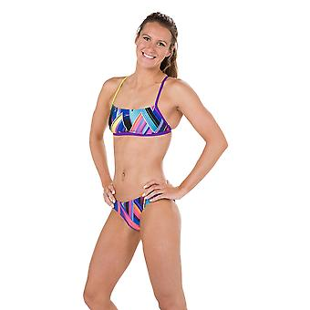 Speedo Fizz Bounce 2 Piece Crossback Swimwear For Girls