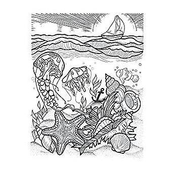 Spellbinders Aquatic Scene Stamp
