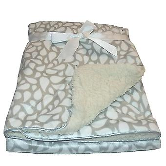Harmaa DROPS minkki Sherpa Fleece vuorattu vauvan huopa