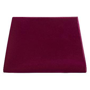 Luxe Marokkaanse rode fluwelen zak plein, zakdoek, donker roze