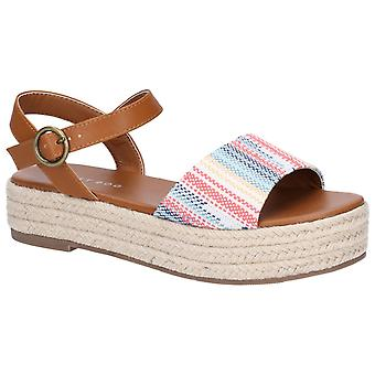 Rocket Dog Womens Espee Denise/Mickey Buckle Sandal Tan/Multi