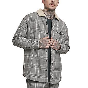 Urban Classics - SHERPA Lined Glencheck Shirt Jacket