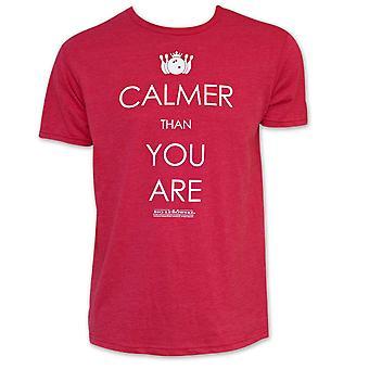 Big Lebowskin punainen rauhallisempi kuin sinä olet T-paita