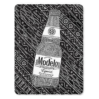 Modelo 45 X 60 svart og hvit Fleece teppe