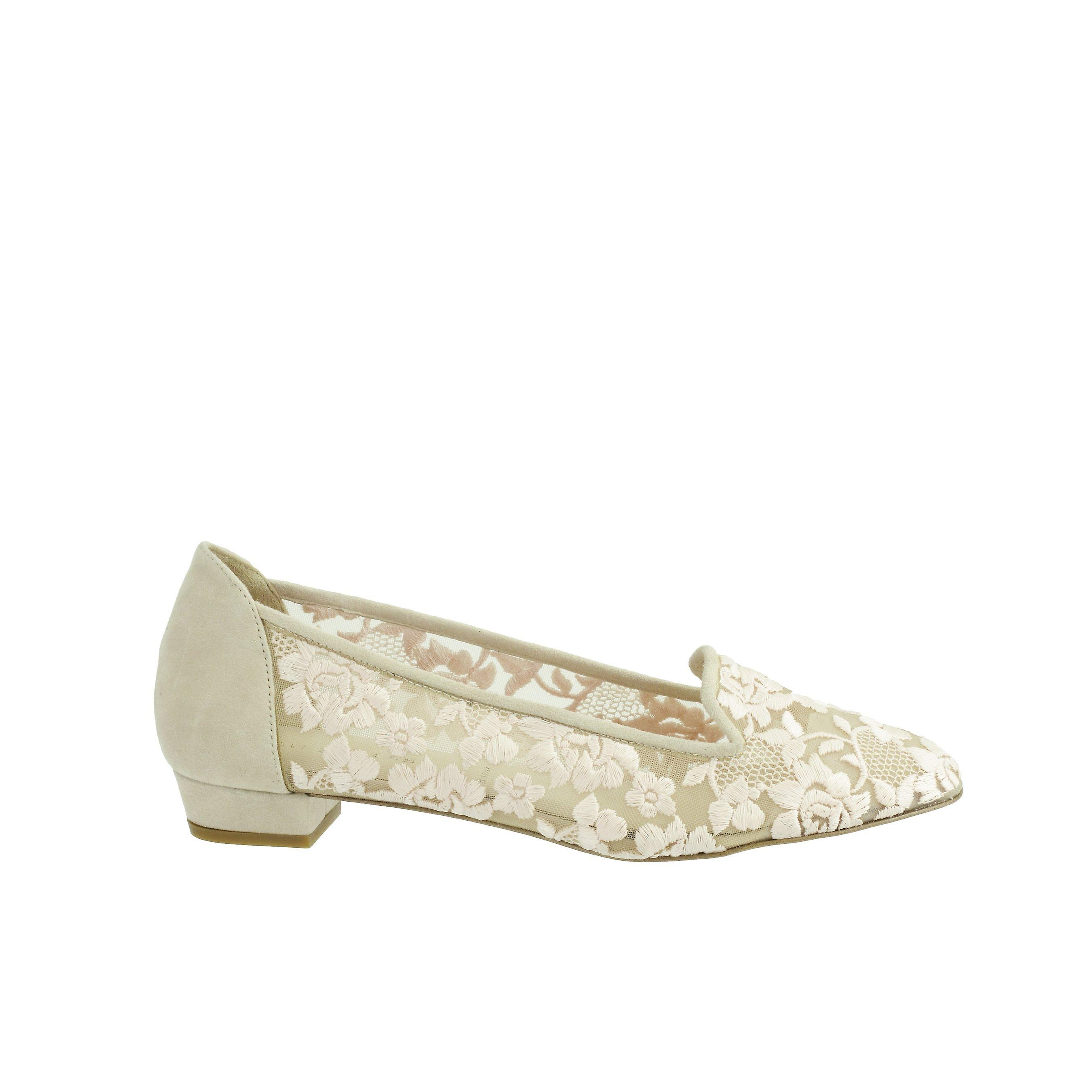 Ron hvit kvinner Helene Lace Almond toe Mary Jane Flats