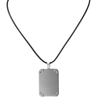 Akzent 002500000120 - Chain with women's pendant - stainless steel and rubber - 450 mm