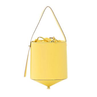 Arcadia Leather Diamond Trottola Bucket Bag
