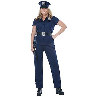 Police Woman Policewoman Cop Officer Uniform Book Week Womens Costume Plus