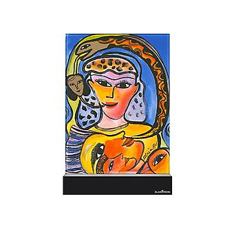 Glass vision-painting-Art Glass-strong & Proud Design Ulrica Hydman Vallien