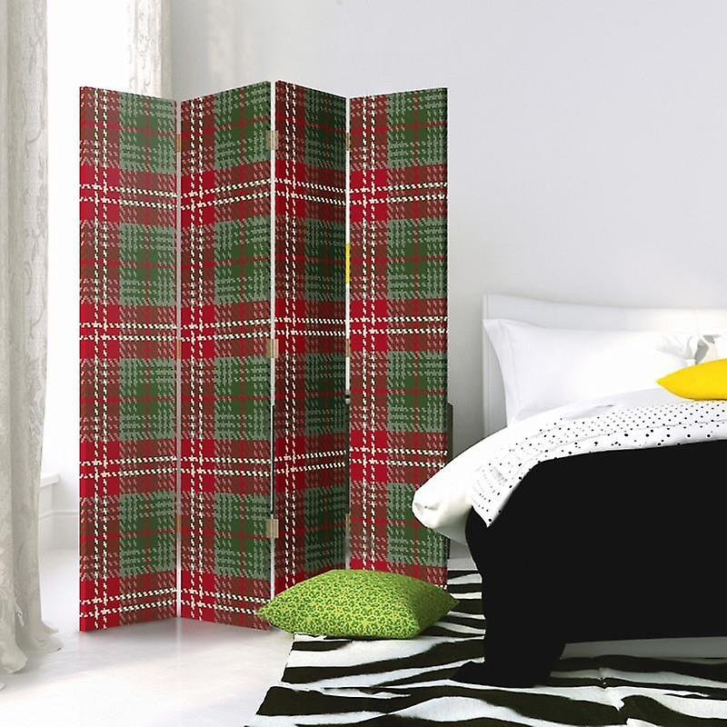 Room Divider, 4 panneaux, Double-Sided, Rotatable 360 ?? Canvas, The Grating 3