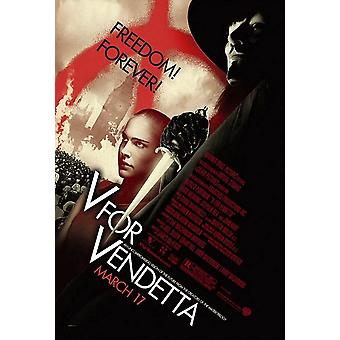 V Pour Vendetta Original Movie Poster - Single Sided Advance Style B