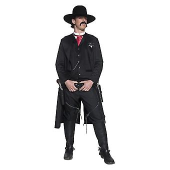 Mens autentica Sceriffo occidentale Fancy Dress Costume