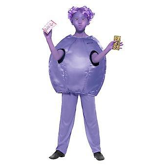 Dievčatá Roald Dahl fialová Beauregarde maškarný kostým