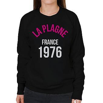 La Plagne France 1976 Skiing Women's Sweatshirt