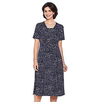 Dames Womens spot print jurk lengte 46 inch