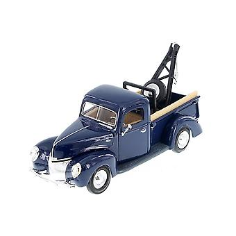 MotorMax American Classics - 1940 Ford Pick Up Tow Truck - Blue - 1:24