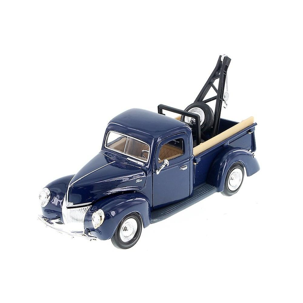 MotorMax American Classics - 1940 Ford Pick Up Tow Truck - Blue - 1:24