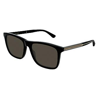 Gucci GG0381S 007 Black/Polarised Grey Sunglasses