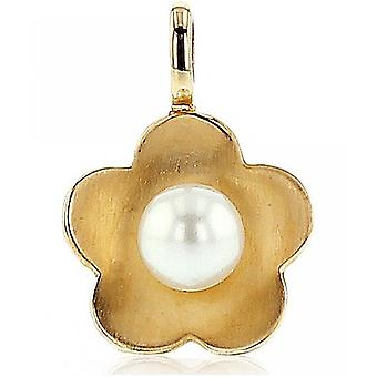 Luna-Pearls - Necklace - Pendant - Yellow gold 585 freshwater pearl 5-5.5 mm