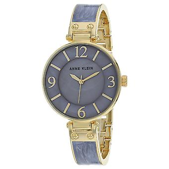 Anne Klein Women's Classic Mother of Pearl Dial Watch - AK-2690GYGB