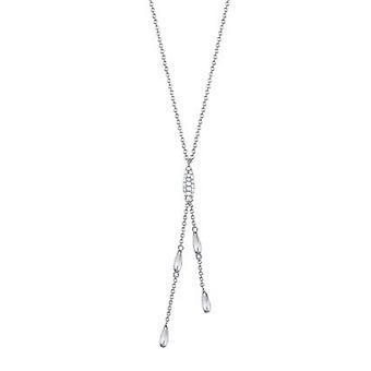 Esprit Damen Kette Collier Silber Zirkonia Droplets ESNL93332A420
