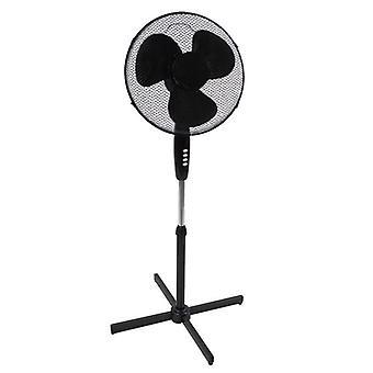 Benross 43830 Adjustable Oscillating 3-Speed Stand Fan, 50 W, Black