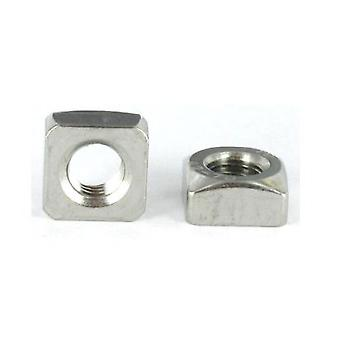 M5 Chamfered Square Nut A2 (t304) Stainless Steel Din 557
