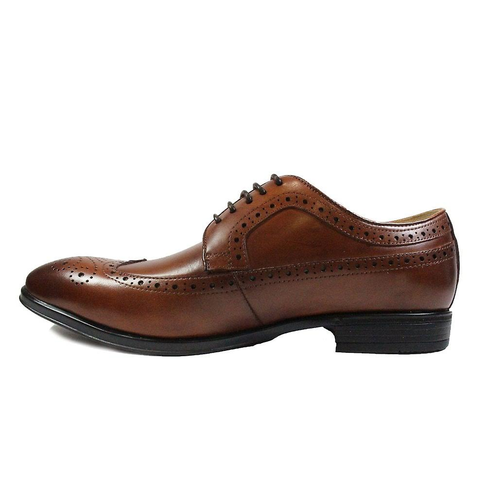 Steptronic Francis Tan Cuir Homme Smart Lace Up Brogue Chaussures