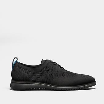 Oswin Hyde Daniel Mens Knitted Oxford Shoes Black