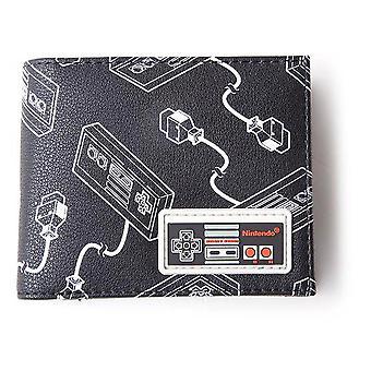 Nintendo NES Controller All-Over-Print mit Gummi-Patch Bi-fold Brieftasche männlich