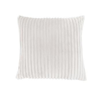 """18"""" x 18"""" Ivory, Ultra Soft Ribbed Style - Pillow"""