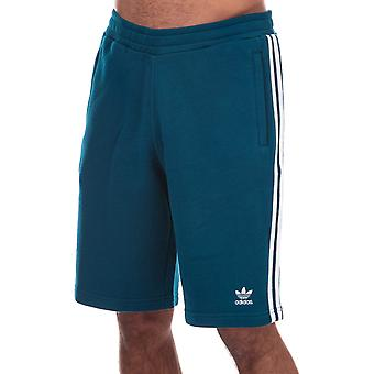 Heren Adidas Originals 3-stripe shorts in Navy