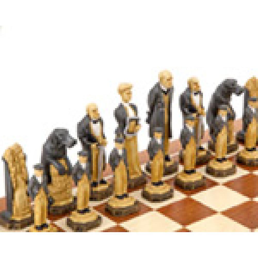 Sherlock Holmes Mahogany Chess Set