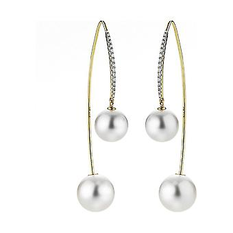 Yana Nesper - Pendientes - Mujeres - Diamante Studded South Sea Beads SD119