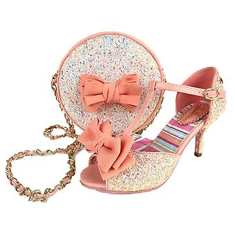 Joe Browns Couture Sugar & Spice Peeptoe Glitter T-Bar Shoe & Matching Bag
