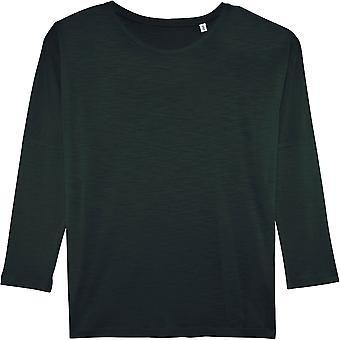 greenT Womens Organic Cotton Turns Slub Long Sleeve T Shirt