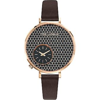 Watch Ted Lapidus A0703UNFIN - leather honeycomb black woman
