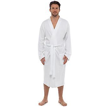 Adults Unisex Foxbury Classic Waffle Design 100% Cotton Nightwear Bathrobe Dressing Gown