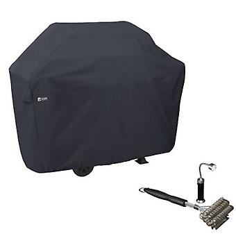 Bbq Grill Cover, X-Large, Con Spazzola Griglia Aculed & Magnetic Led Light