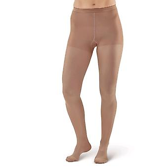 Pebble UK mikrofiber ogenomskinlig kompression Tights [stil P218] Sand Q