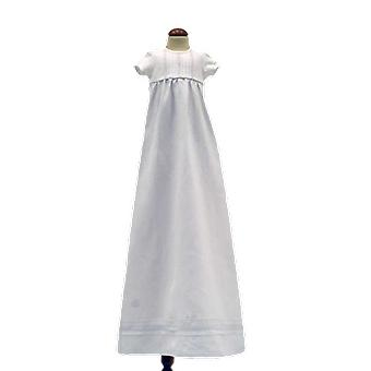 Vit Dopklänning Grace Of Sweden, Kort ärm Utan Rosett      Tr.v.k