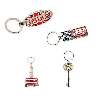 Metal London Souvenir Keyring - set of 4 -Collection 2
