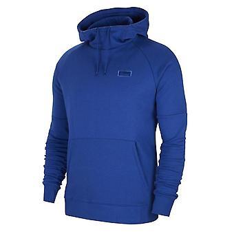 2019-2020 Chelsea Nike Fleece Hættetrøje (Blå)
