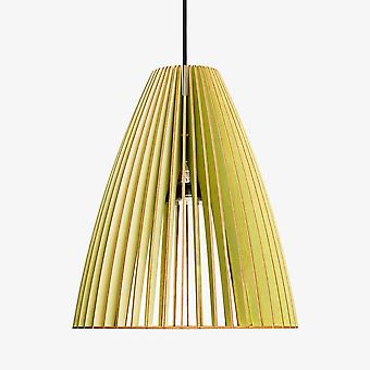 Iumi Teia Large Cone Shaped Birch Plywood Pendant Lamp - Light Green