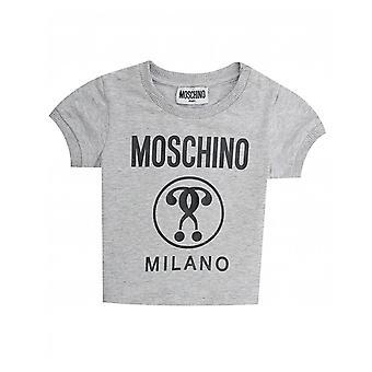 モスキーノ ミラノ ロゴ t シャツ