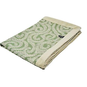 Mcalister textiles little leaf sage green throw