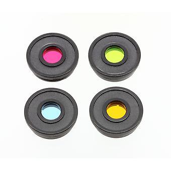 """BRESSER Color Filter Set Essential 1.25"""" czerwony, zielony, niebieski, żółty"""