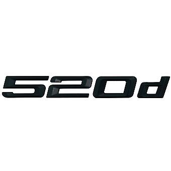 Matt Black BMW 520d Car Model Rear Boot Number Letter Sticker Decal Badge Emblem For 5 Series E93 E60 E61 F10 F11 F07 F18 G30 G31 G38