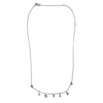 PANDORA hield Script Necklace 18k goud vergulde PANDORA Shine collectie - 50cm