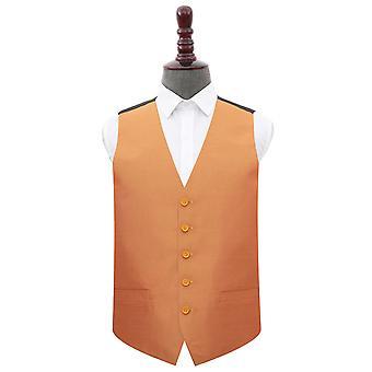 Turmeric Yellow Plain Shantung Wedding Waistcoat